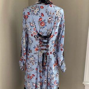 Anthropologie Dresses - Anthropologie Floral Shirt Dress